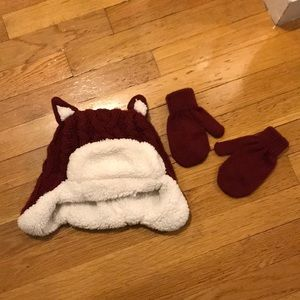 Super warm hat, mittens